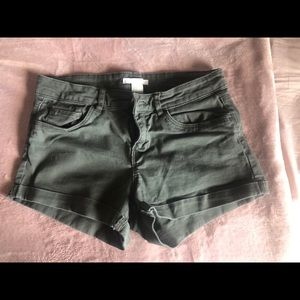 H&M Army Green Shorts Size 4